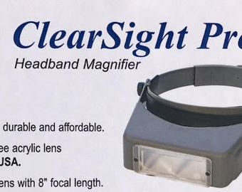 """MAGNIFYING VISORS - My """"Go-To"""" magnifiers! Headband Magnifier Clear Sight Pro 2.50x"""