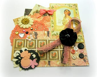 Graphic 45 Le' Romantique Wedding Inspiration Kit, Romantic Embellishment Kit for Scrapbooks Cards Mini Albums and Paper crafts