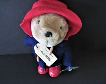 Paddington Bear, Musical Bear, Eden Toys Bear, Musical Paddington, Vintage Paddington, English Bear, Throwback Toy, Old Paddington, Bear