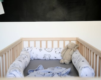 Crib bumpers| Cot Bumper| Organic crib bumper| cradle bumper| Baby Bed Bumper| woodland bumper| Baby Bumper| Mustard baby bedding Bed Pillow