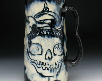 JUMBO Viking Skull Beer Stein