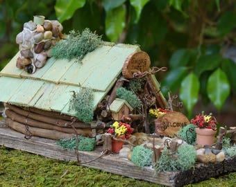 Fairy House, Gnome House, Fairy Garden, Fairy Cottage, Gnome Home, Mini Woodland House