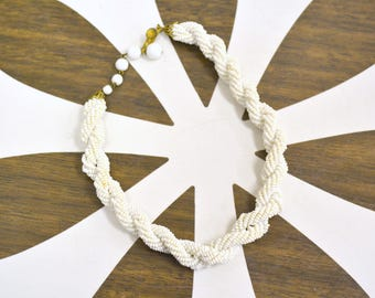 1940s Twisted Seed Bead Necklace