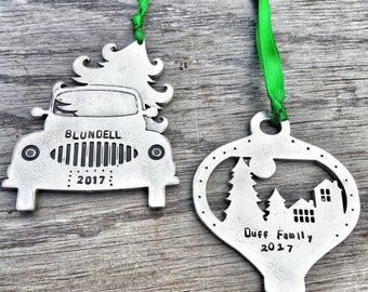 Personalized Gift For Grandparents - Custom Christmas Ornament Family - Custom Christmas Ornament - Rustic Christmas Ornament - 2017 gift