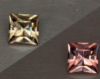 Wandanyi Color Change Garnet Natural Untreated Phenomenal Green to Pink Custom Square Cut Loose Gemstone
