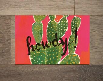 Cactus postcard set - 8 pack- cactus painting