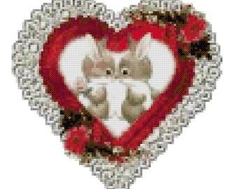 A Bunny Valentine Cross Stitch Pattern