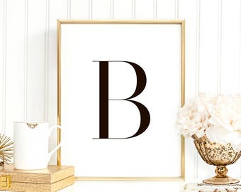 SALE -50% Letter B Monogram Alphabet Name Digital Print Instant Art INSTANT DOWNLOAD Printable Wall Decor