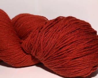 100% Wool Yarn , Fingering 3ply, dk, Mega-Yardage, Kauni Yarn Wine Red