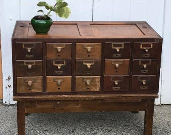 File Away.... Vintage Library Card Catalog File, Library File, Card Catalogue, Card File, Dewey Decimal