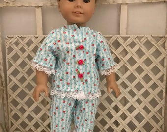Pajamas for American Girl Doll or 18 Inch Doll