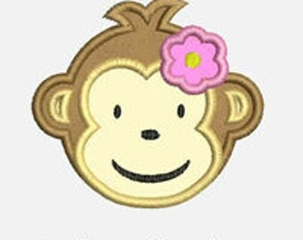 Modern Monkey...Embroidery Applique Design...Three sizes for multiple hoops...Item1141...INSTANT DOWNLOAD