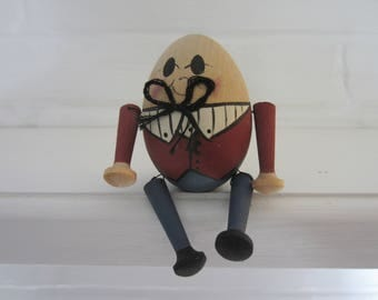 Humpty Dumpty Figurine, Wooden figurine, Miniature figurine