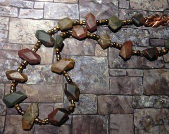 Red Creek Jasper gemstone necklace