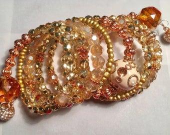 Gold & Copper Snake Bracelet