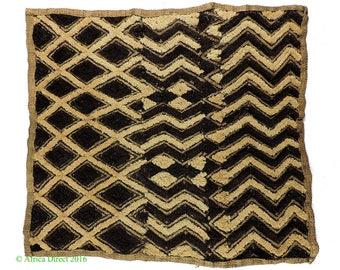 Kuba Textile Raffia Square Congo Africa Art 107267