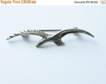 On Sale Mexican Silver Seagull Pin Brooch Vintage Sterling Silver Seagull Pin