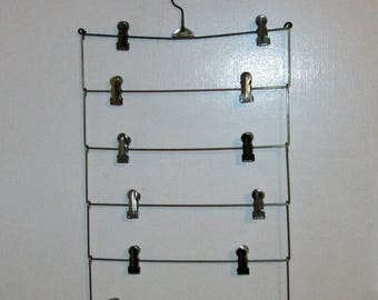 Vintage Metal Skirt Clothes Hanger Picture Display 6 tier level Organizer Storage with Clips