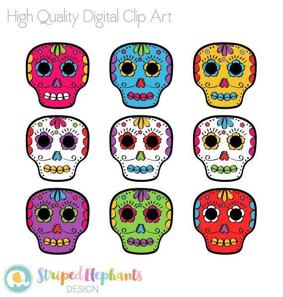 foto de Day of the Dead Skulls Clip Art Calaveras clipart Día de