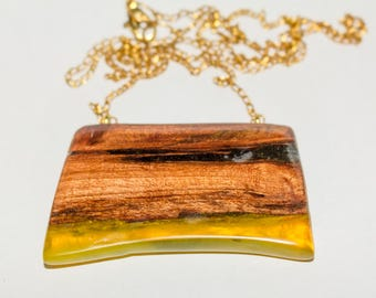 022 Resin jewelry, resin necklace, resin pendant, wooden necklace, wood jewelry, wood pendant