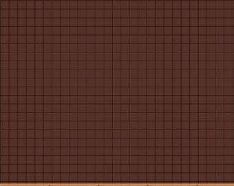 Coast to Coast Brown Grid 43008-1 by Whistler Studios for Windham Fabrics