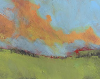 Abstract landscape painting - Last of light