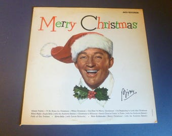 Bing Crosby Merry Christmas Vinyl Record LP MCA-15024 MCA Records 1972