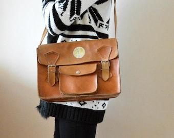 Vintage Messenger Bag Leather Satchel Bag