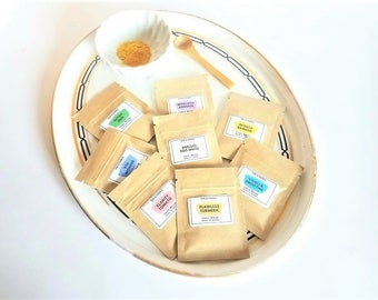 Face Mask Samples  | Turmeric Mask | Clay Face Mask | Facial Mask | Acne Treatment | Skin Brightener | Cleansing Grains | Anti Aging Mask