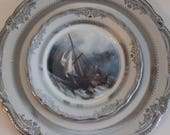 Nautical Plate, Ship Plate, Sail Boat Plate, Sea Plate, Very Durable and Foodsafe, Customizable, Boat China, Galleon Plate, Ship China Dish
