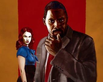 Luther Idris Elba Art Print