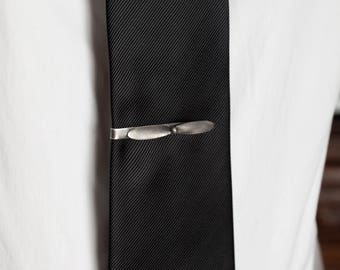 Airplane Tie Clip Sterling Silver with Plane Propeller