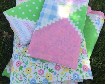Adorable Vintage Perma-Prest Full Sheet Set- Fitted, Flat, 2 pillowcases