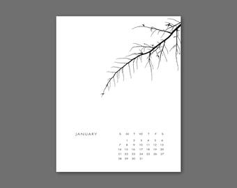 2018 Tree Calendar Instant Download