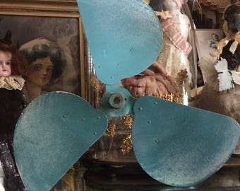 I Thought Someone Might Need This Large Turquoise Blue Industrail Fan Blade.