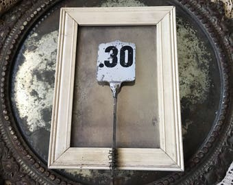 30 I Don't Miss It Antique Cash Register Thirty Cent Metal Tag Flag
