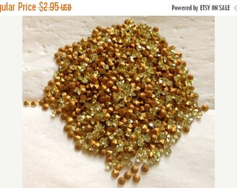 SPECIAL Vintage Swarovski Jonquil Rhinestones Article 1100 pp24 or ss12 3mm QTY - 12