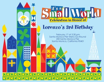 it's a small world 8 x 10 table sign