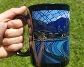 Hawaiian Coffee Mug, original Artwork, Hanalei Bay Kauai, Hawaii
