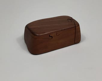 John Pollock Walnut & Cherry Puzzle Box ca. 1987
