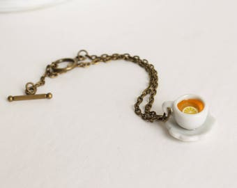 Tea Cup Bracelet - Tea Cup Jewelry - Coffee Cup bracelet - Coffee Cup jewelry - Whimsical Bracelet - Whimsical Jewelry - Tea Party Jewelry