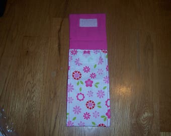 Pink Flowered Tampon Case