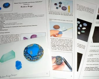 "Tutorial for the ""Resin Faux Crystals and Druzy Cabochon"""
