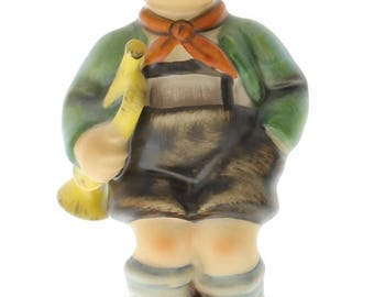 Goebel Hummel Figurine #97 Little Boy with a Trumpet TMK 5