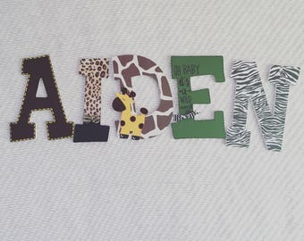 Safari Decorated Wood Letters