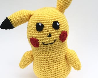Pokemon-inspired Pikachu / Crocheted Toy / Geeky Collectable / Video Game