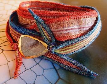 Silk Ribbon Wrap