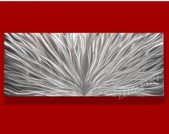SALE 70% OFF Modern Long Wall Decor 3D Video Halogen Led colour light reflect 3D effect Metal art big silver sculpture office background by