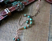 Horse Rearview Mirror Decoration, horse lover gift, wire horse, turquoise and copper wire horse, truck decoration, horse ornament