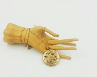 Victorian Gold Filled Paste Locket 1874 RBM Atrice